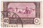 Stamps Morocco -  protectorado español-la siega
