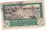 Sellos de Africa - Marruecos -  protectorado español-La monteria