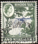 Stamps Africa - Zimbabwe -  Rhodesia - Cataratas Victoria