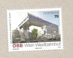 Sellos de Europa - Austria -  Estación de tren del oeste de Viena