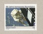 Stamps Austria -  50 Aniv. del vuelo espacia de Gagarin