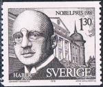 Sellos del Mundo : Europa : Suecia : LAUREADOS CON EL PREMIO NOBEL EN 1918. FRITZ HABER, QUIMICO. Y&T Nº 1033