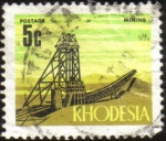 Stamps Africa - Zimbabwe -  Rhodesia - Mineria