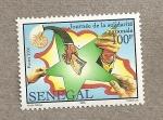 Sellos de Africa - Senegal -  Jornada de la solidaridad nacional