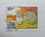 Sellos de Africa - Guinea Bissau -  Animales Carnivoros. Neofelis Nebulosa.