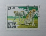 Sellos del Mundo : Africa : Guinea_Bissau : Animales Carnivoros. Acinonyx Jubatus.