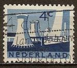 Sellos del Mundo : Europa : Holanda : Las torres de refrigeración, las minas estatales, Limburg.