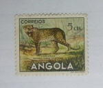 Sellos de Africa - Angola -  Animales. Leopardo.
