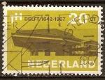 Sellos del Mundo : Europa : Holanda : 125a Aniv de la Universidad Tecnológica de Delft.