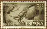 Sellos de Europa - España -  RIO MUNI - Elefante y Loro