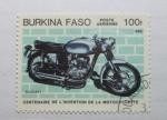 Sellos del Mundo : Africa : Burkina_Faso : Centenario de la invencion de la Motocicleta. Ducati.