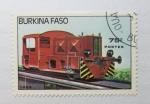 Sellos del Mundo : Africa : Burkina_Faso : Locomotoras. Diesel.