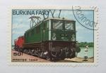 Sellos del Mundo : Africa : Burkina_Faso : Locomotoras. Vagon Electrico.