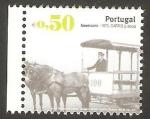 Stamps Portugal -  3128 - Transporte público, Americano, vehículo tirado por 2 caballos