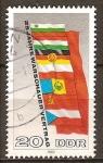 Sellos del Mundo : Europa : Alemania : 25a Aniv del Pacto de Varsovia. Banderas de los Estados miembros(DDR)