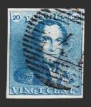 Stamps Europe - Belgium -  Leopoldo I - 20 c.