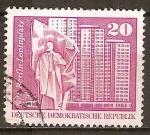 Sellos de Europa - Alemania -  Plaza Lenin,Berlín-DDR.
