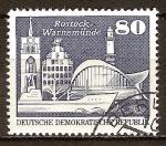 Sellos de Europa - Alemania -  Edificios en Rostock-Warnemünde-DDR.