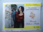 Sellos de America - Colombia -  Manuela Beltran Archila - Bicentenario de la Independencia.