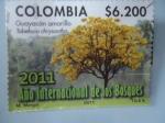 Sellos de America - Colombia -  Guayacán Amarillo - 2011 Año Internacional de los Bosques