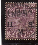 Stamps : Asia : India :  india epoca colonial inglesa