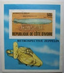 Stamps Africa - Ivory Coast -  Zeppelin. Ciudad de New York.