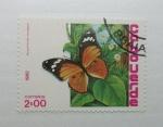 Sellos del Mundo : Africa : Cabo_Verde : Mariposas. Hipolimnas Misippus.