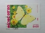 Stamps Cape Verde -  Mariposas. Catopsilia Florella.