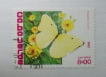 Sellos del Mundo : Africa : Cabo_Verde : Mariposas. Catopsilia Florella.