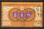 Sellos de Europa - Alemania -  20a.Carrera Internacional de la Paz en 1967 (DDR)