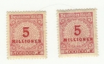 Stamps : Europe : Germany :  5000000millionen