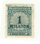 Stamps : Europe : Germany :  1 Million