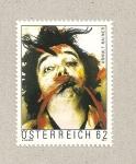 Stamps Austria -  Arnulf Rainer, pintor