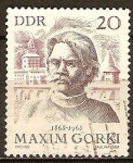 Sellos de Europa - Alemania -  100a Cumpleaños de Máximo Gorki(escritor ruso)DDR