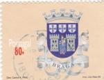 Stamps Portugal -  escudo-Braga