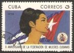 Sellos del Mundo : America : Cuba : 1417 - X anivº de la federación de mujeres cubanas