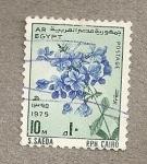 Stamps Egypt -  Ramillete flores