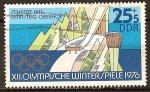 Sellos de Europa - Alemania -  XII.Juegos Olímpicos de Invierno de Innsbruck (1976)pista de salto de esquí-DDR.