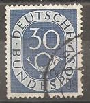 Sellos del Mundo : Europa : Alemania :  REPUBLICA FEDERAL. 1ª Serie básica. Corneta postal.