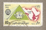 Stamps of the world : Egypt :  Mapa Norte Africa
