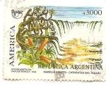 Sellos de America - Argentina -  cataratas