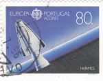 Sellos de Europa - Portugal -  Açores-aereonautica