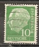 Sellos de Europa - Alemania -  REPUBLICA FEDERAL. Presidente Theodor Heuss.