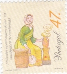 Stamps of the world : Portugal :  vendedora  de castañas