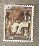 Sellos de Africa - Egipto -  Pareja real