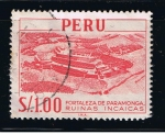 Sellos de America - Perú -  Fortaleza de Paramonga.  Ruinas Incas.