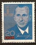 Sellos de Europa - Alemania -   Pavel Belyaev.Visita de cosmonautas sovieticos-DDR