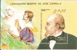 Stamps : Europe : Spain :  Sahara occidental centenario Jose Zorrila