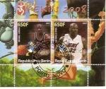 Stamps : Africa : Benin :  Jordan y O´Neil