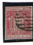 Stamps Europe - Spain -  Escudo de España (1854)